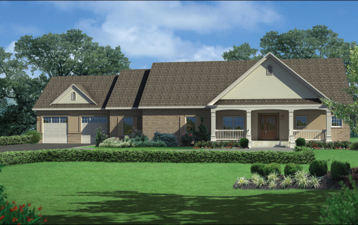 A 3D rendering of the Magnolia patio home.